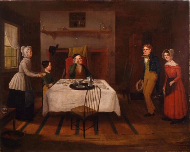 Jerome Thompson, 'The Country Parson Disturbed at Breakfast by a Couple Wishing to be Married.', 1848, Childs Gallery