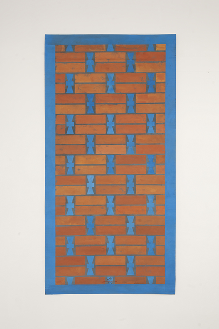 , 'P7 - Khiva mud brick wall pattern with blue glazed tiles,' 2016, Sabrina Amrani