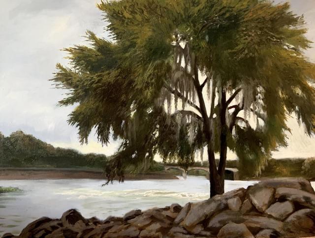 Julianna Wells, 'Chattahoochee River Study', 2020, Painting, Oil on linen on panel, Sugarlift