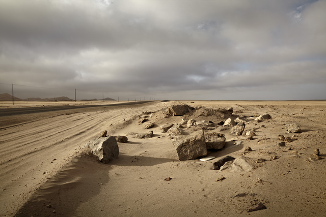 , 'The Salt of August. Between Walvis Bay and Swakopmund, Namibia,' 2012, Guns and Rain