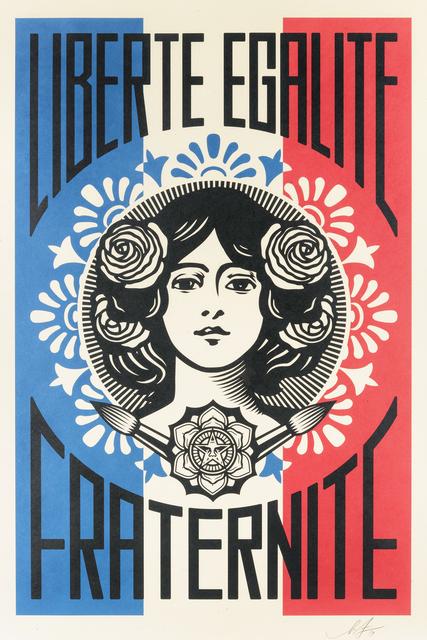Shepard Fairey, 'Liberte, Egalite, Fraternite & Make Art Not War', 2018, Tate Ward Auctions