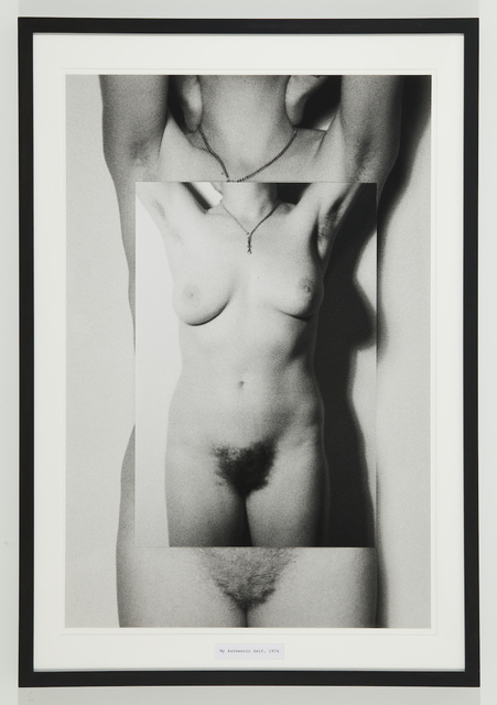 Martha Wilson, 'My Authentic Self', 1974/2011, Mixed Media, Black and white photograph, text, P.P.O.W