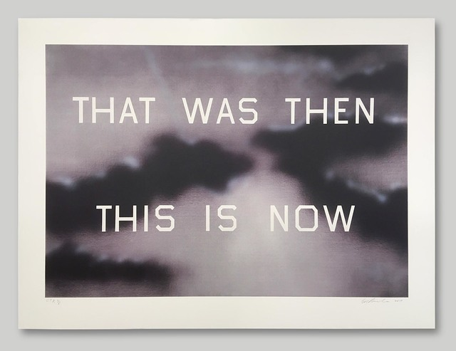 Ed Ruscha, 'That Was Then This Is Now', 2014, Print, Hand-Pulled Color Lithograph on Paper, Approximately Blue