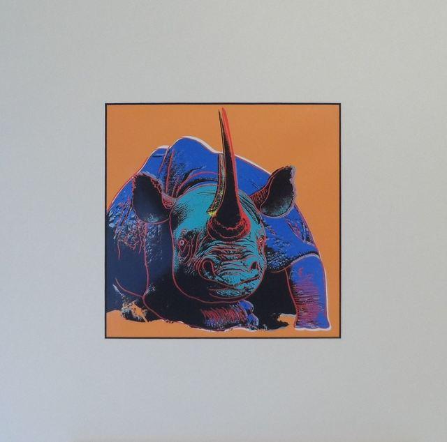 Andy Warhol, 'Rhinoceros', 1987, Print, Colour Offset Print, Art276