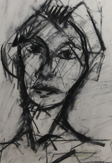 , 'Female Head,' 2016, Castlegate House Gallery
