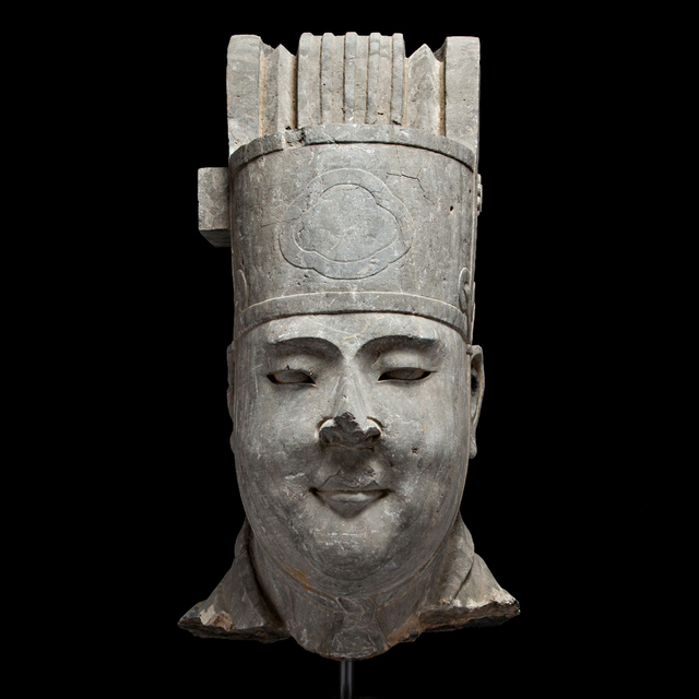Unknown Chinese, 'Monumental Tang Dynasty Stone Sculpture Depicting the Head of a Civic Official', 618-906, Barakat Gallery