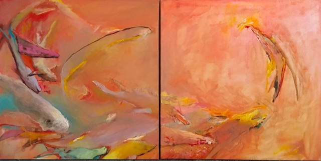, 'Pink Fish Diptych,' 2015, RoodGallery