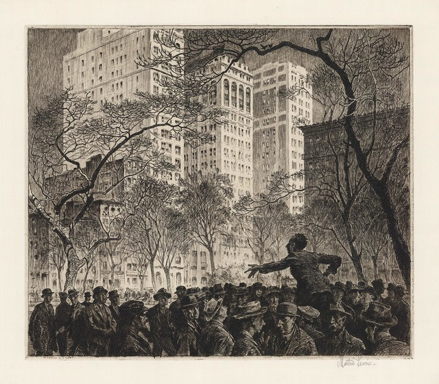 , 'The Orator, Madison Square.,' 1916, The Old Print Shop, Inc.