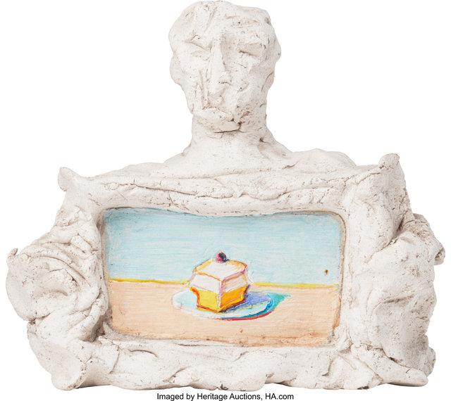 Wayne Thiebaud, 'Untitled (Portrait of Manuel Neri and Meringue)', circa 1990, Heritage Auctions