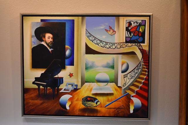 Ferjo, 'Room with Grand Master - Original oil on canvas painting by Ferjo', 2004, Newport Brushstrokes Fine Art