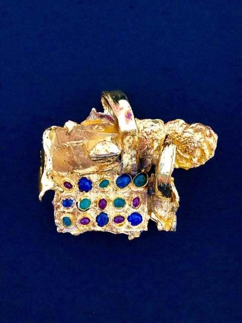 , 'Gold Gilt Bronze Sculpture Brooch Art Israeli Tumarkin Abstract Surrealist ,' 1960-1969, Lions Gallery