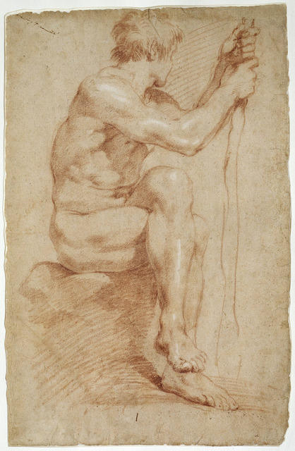 , 'Seated Male Nude,' 1618-1624, Princeton University Art Museum