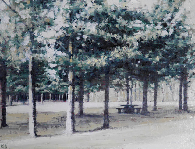 , 'Picnic Bench 3,' 2018, Reuben Colley Fine Art