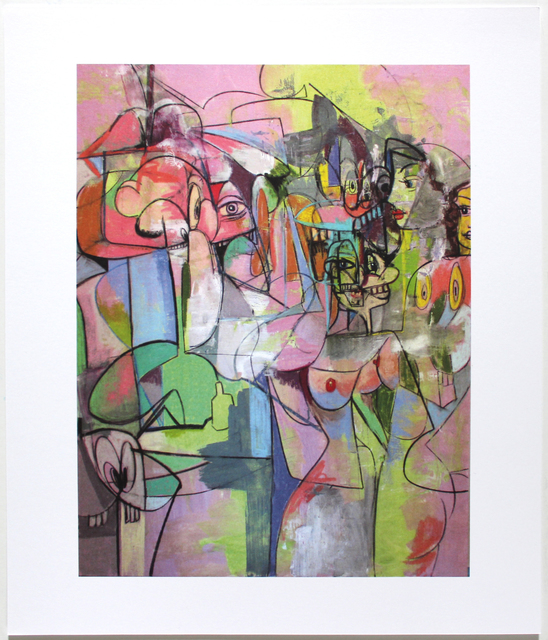 George Condo, 'Plate 4 Figure Change 2011', 2011, Reproduction, Offset lithograph, EHC Fine Art