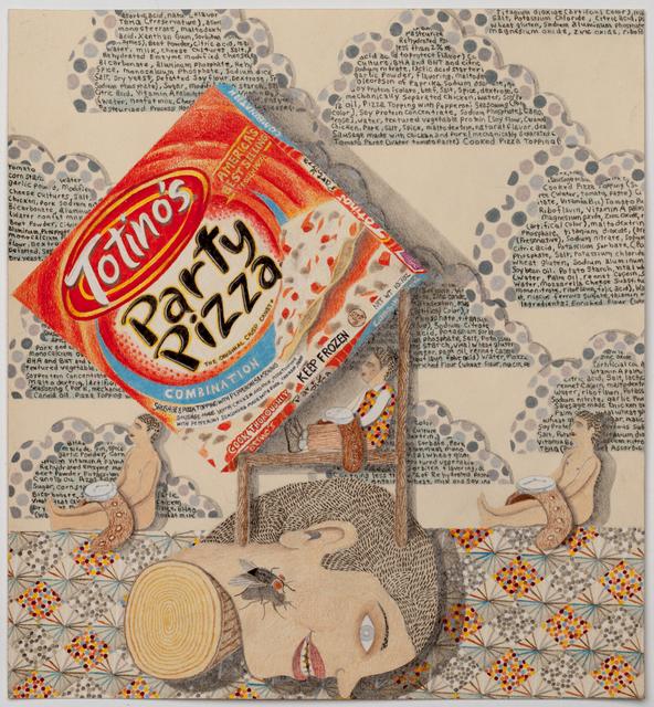 , 'Head Portrait (Party Pizza),' 2014, P.P.O.W