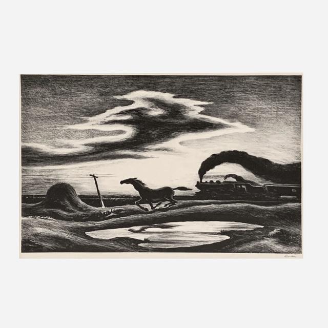 Thomas Hart Benton, 'The Race (Fath 56)', 1942, Print, Lithograph on wove paper, Artsy x Rago/Wright
