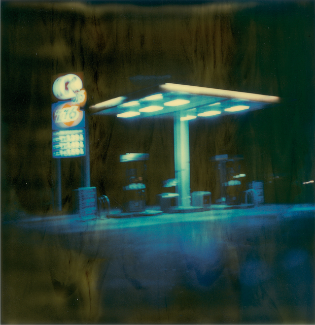 Stefanie Schneider, 'Gas Station at Night II', 1999, Photography, Digital C-Print, based on a Polaroid, not mounted, Instantdreams