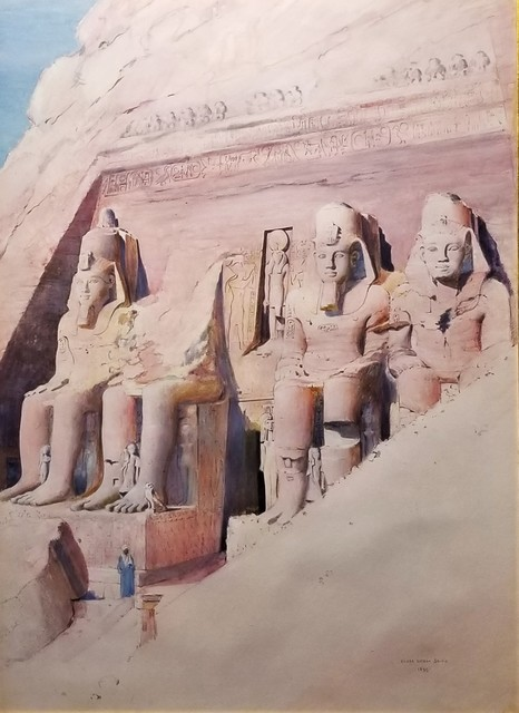 Joseph Lindon Smith, 'Temple of Abu Simbel', 1899, Clarke Gallery