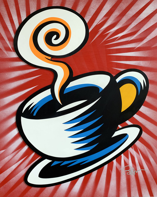 Burton Morris, 'Friends - Coffee Cup (Red 2)', 2019, Taglialatella Galleries