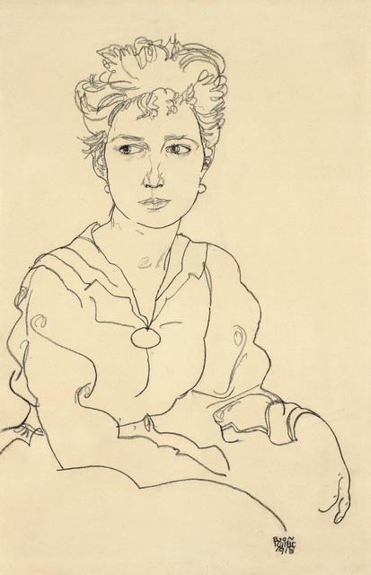, 'Young Woman Seated,' 1918, Galerie Bei Der Albertina Zetter