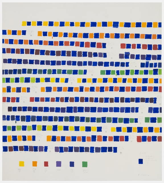, 'All the colors of the chromatic circle interpolated by blue,' 1980, Herlitzka + Faria