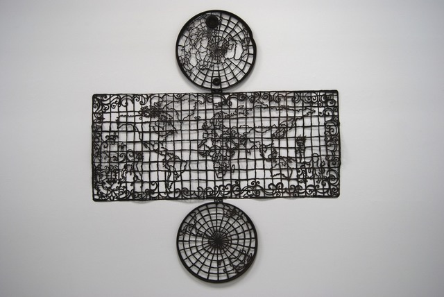 Cal Lane, 'Oil Drum Map of the World #1', 2008, Art Mûr
