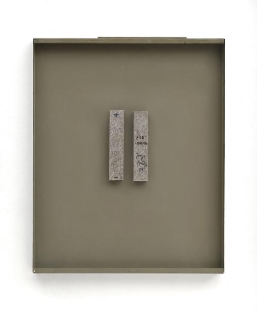 ", '""FeltMagnet"" (Double Object),' 1984, Galerie Thomas"
