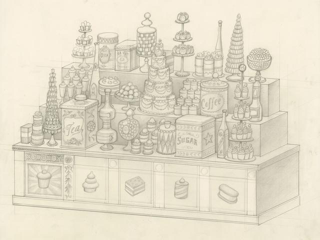, 'Dessert Counter (sketch),' 2016, Paul Kasmin Gallery