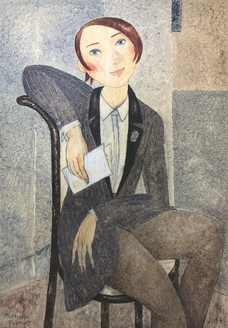 , 'Girl with letter,' , Great Banyan Art