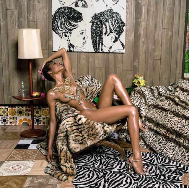 , ' Liz and Chair with Zebra,' 2013, Lehmann Maupin