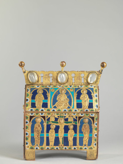 , 'A champlevé enamel chasse showing the Crucifixion,' ca. 1200, Luhring Augustine