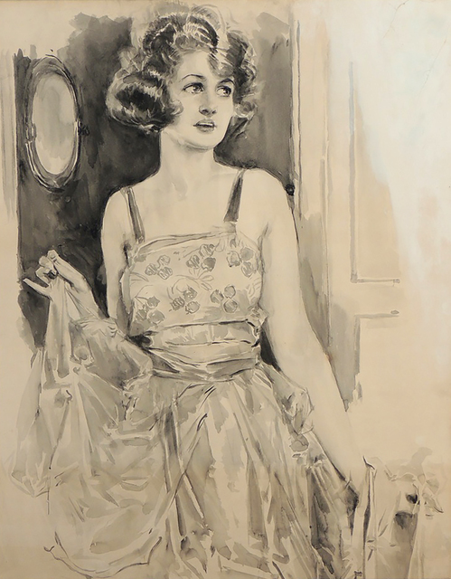 Howard Chandler Christy, 'Portrait of a Woman', 1922, The Illustrated Gallery