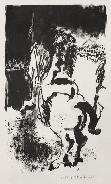 Roy Lichtenstein, 'Warrior on Horseback', 1956, Print, Lithograph, Georgetown Frame Shoppe
