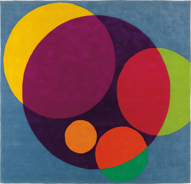 """Herbert Bayer, '""""Chromatic Circles"""" tapestry, commissioned for the ARCO offices, Los Angeles', circa 1967, Design/Decorative Art, Wool pile., Phillips"""