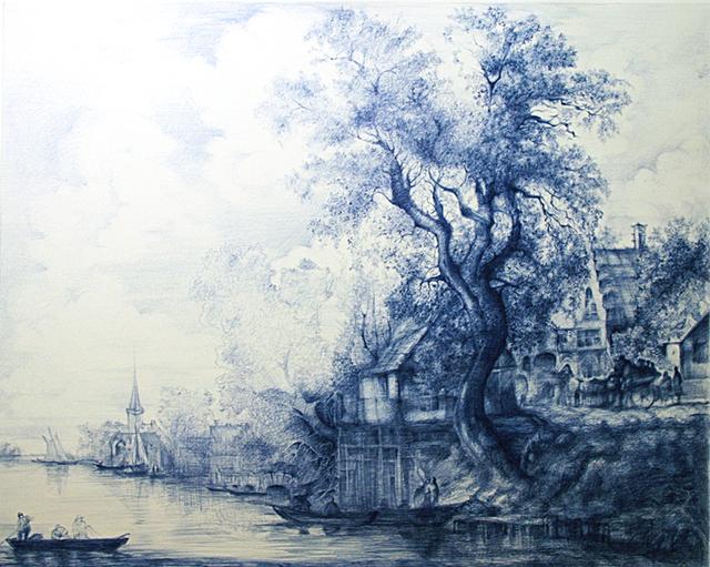 Linda Newman Boughton, 'Jan Van Goyan Ballpoint', 2013, Carrie Haddad Gallery