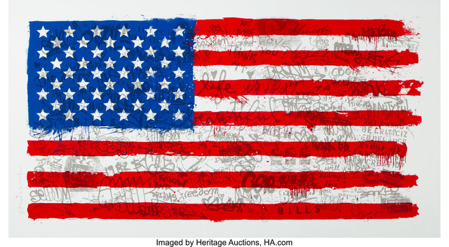 Mr. Brainwash, 'American Flag', 2016, Heritage Auctions