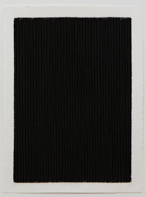 , 'Black Pinstripe,' 2016, Barry Whistler Gallery