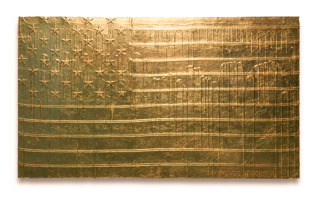 , 'Gold Melting Reflective Flag (Made in China),' 2017, Fabien Castanier Gallery