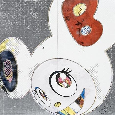 Takashi Murakami, 'DOB In Pure White Robe (Navy and Vermilion)', 2013, Dope! Gallery