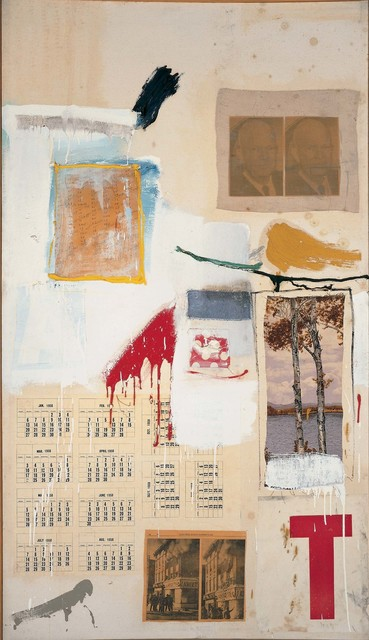 Robert Rauschenberg, 'Factum I', 1957, Mixed Media, Combine: oil, ink, pencil, crayon, paper, fabric, newspaper, printed reproductions, and printed paper on canvas, Robert Rauschenberg Foundation