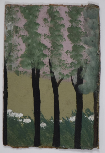 , 'Five Thin Trees With White Flowers Against Pink Sky,' , Ingleby Gallery