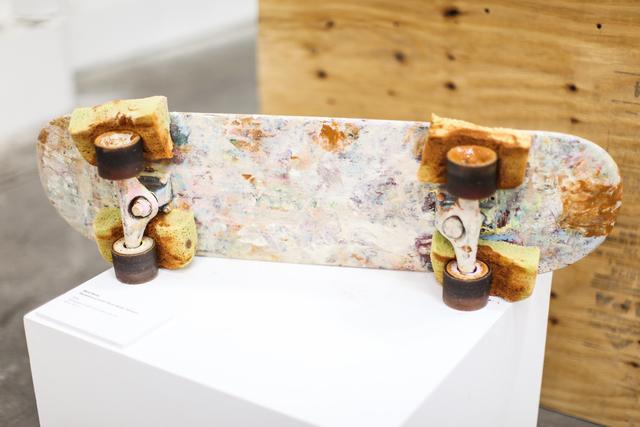 Matt Reilly, 'Skateboard with Paint Roller Wheels', 2014, Mana Contemporary