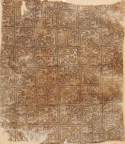 , 'Painted rectangular Textile ,' 1000-1470, Muzeion Gallery