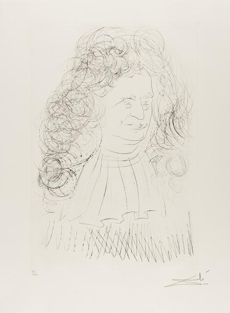 Salvador Dalí, 'Portrait of La Fontaine (from La Fontaine's Bestiary Dalinized) (M & L 653; Field 74-1-A)', 1974, Forum Auctions