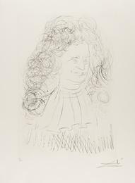 Portrait of La Fontaine (from La Fontaine's Bestiary Dalinized) (M & L 653; Field 74-1-A)