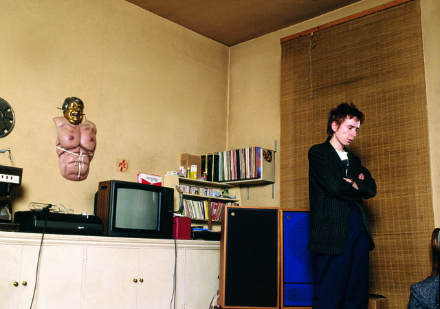 Sheila Rock, 'John Lydon (Johnny Rotten) of Public Image Ltd, ex of The Sex Pistols, in his apartment, London', 1979, ElliottHalls