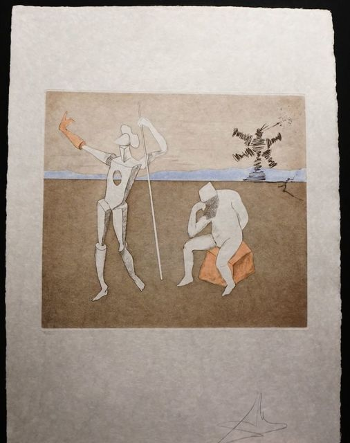 Salvador Dalí, 'Historia de Don Quichotte de la Mancha The Power of Thought', 1980, Print, Etching on Japon Paper, Fine Art Acquisitions Dali