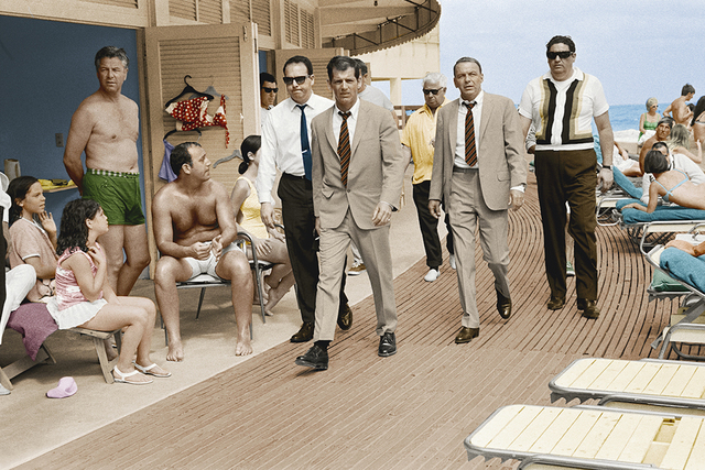 Terry O'Neill, 'Frank Sinatra with Body Double and security team, Boardwalk, Miami Beach (colorized version)', 1967, Gallery 270