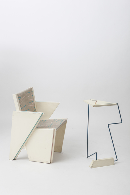 , 'Trapezoid vahir and side table,' 1980, Magen H Gallery