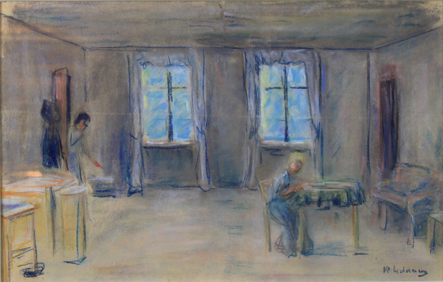 , 'Stage Setting for Gerhart Hauptmann's Play 'The Flight of Gabriel Schilling' (Preparatory work for Act IV) ,' Executed in 1912 , Stern Pissarro